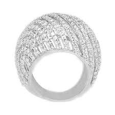 domed ring 14k white gold large fancy domed ring at rs 473 white gold ring