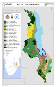 Usda Zone Map Malawi Livelihood Zone Map Thu 2015 07 30 Famine Early