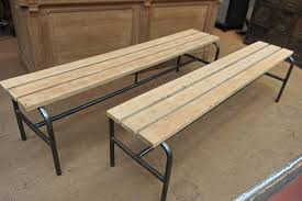 industrial metal and beech bench 1950s for sale at pamono