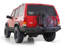 jeep cherokee back smittybilt 76851 xrc rear bumper with tire carrier for 84 01 jeep
