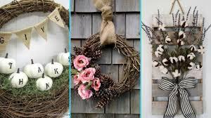 diy shabby chic style fall wreath decor ideas home decor