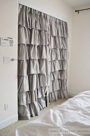 Shower Curtain For Closet Door 18 Closet Door Makeovers That Ll Give You Closet Envy Bi Fold