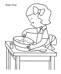 baking christmas cookie coloring coloring pages