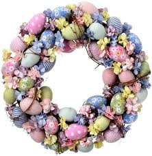 egg wreath regency international 16 flower and sugared egg wreath reviews