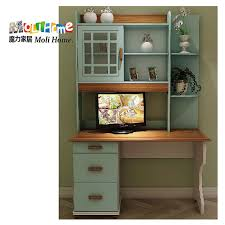 Solid Wood Bookcase Village Mediterranean Combination Of Solid Wood Bookcase Desk