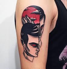 simple blackwork tattoo ideas of face tattoo ideas at arm kmxwtattoo