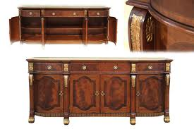 mahogany sideboard with gold leaf accents for the dining room large inlaid mahogany dining room sideboard buffet