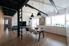 loft apartment beams interior design ideas