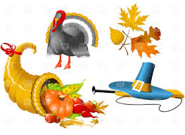 thanksgiving pilgrams thanksgiving cornucopia and pilgrim u0027s hat vector image 4669