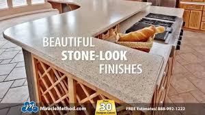 resurface kitchen countertops miracle method countertop refinishing youtube