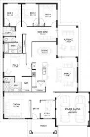 floor plan modern family house first and second two story