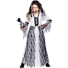Skeleton Halloween Costume Kids Girls Zombie Ghost Corpse Skeleton Bride Kids Halloween Fancy