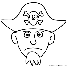 pirate face coloring pirates