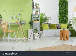 green home interior sofa desk chair stock photo 590252825