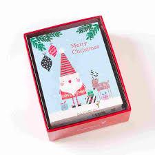 boxed christmas cards doodle santa reindeer boxed christmas cards set of 20