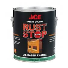 ace gloss rust stop oil based enamel paint 400g l safety green 1
