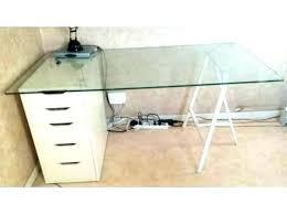verre pour bureau verre pour bureau plateau en verre pour bureau conforama clear table