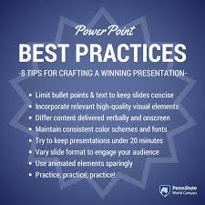 powerpoint best practices to make a great presentation study