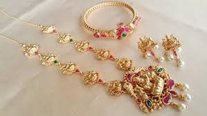buy 1 gram gold necklace with bangle combo