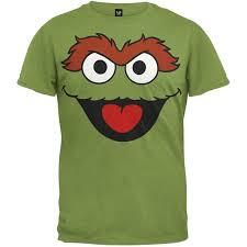 amazon com sesame street oscar the grouch face t shirt 2x