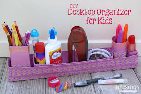Desk Organizer Diy Diy Desktop Organizer For Musings From A Stay At Home