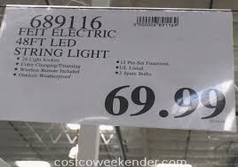 costco led string lights feit 48ft led outdoor weatherproof color changing string light set