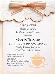peach laurel tea cup baby invitation naptime productions