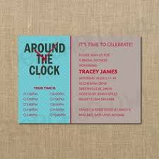 around the clock bridal shower around the clock bridal shower invitation bridal showers shower