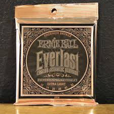 Medium Light Guitar Strings by Ernie Ball Everlast Coated Phosphor Bronze Medium Double Bit