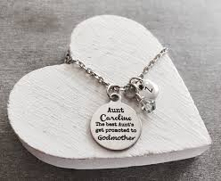 godmother necklace the best aunts get promoted to godmother by sajolie on zibbet