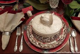 thanksgiving table setting with spode woodland and whimsical