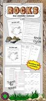 add worksheets about types of rocks and the rock cycle to your