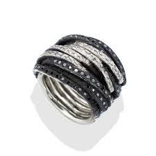 mens black rings black white men s diamond coil ring