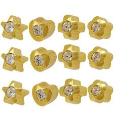 ear piercing earrings studex ear piercing studs assorted shapes 3 0mm with
