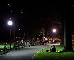 energy saving led lights light up central park got eco