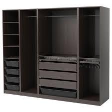 pax wardrobe black brown 250x58x201 cm ikea