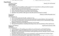 fine dining server resume u2013 the best resume pertaining to fine