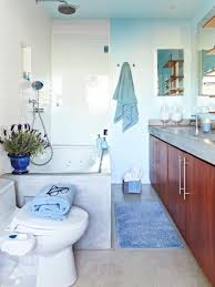cool blue spa like bathroom hgtv