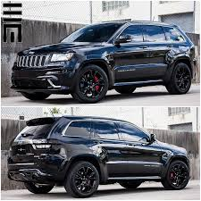 jeep grand cherokee srt8 with smoked lights painted red calipers