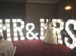 mr and mrs sign for wedding light up letters light up letters hire