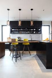 dark modern kitchen cooking accessories floor modernize outdated kitchen wooden brown