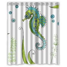 Seahorse Shower Curtain Animal Shower Curtains Kritters In The Mailbox Animal Items