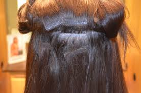 Hair Extensions Tape by Tape In Hair Extensions Damage Om Hair