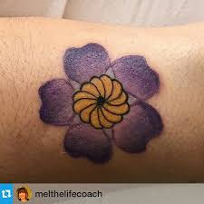 armenian infinity symbol within the forget me not flower tattoos