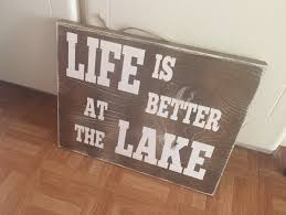 wooden signs decor lake house signs decor