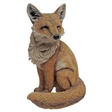 fox garden statue fox garden ornament ebay yard bronze