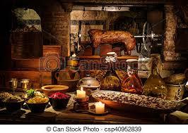 cuisine au moyen age ancien moyen âge nourriture royal château typique photos