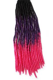 real hair extensions multi color ombre soft dread lock crochet braid hair extension