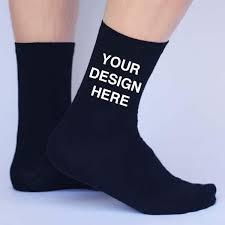 personalized socks custom printed personalized socks mens large flat knit dress