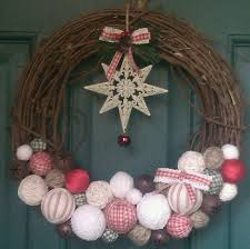 jen u0027s happy spot ribbon twine jute handmade ball christmas wreath